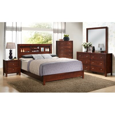 Brennen Panel Bed Size: Full, Color: White LATT1650 34935027