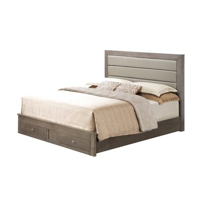 Brennen Upholstered Storage Platform Bed Size: Queen, Upholstery: Gray