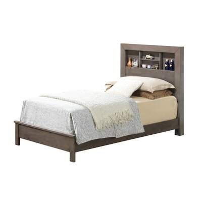 Brennen Panel Bed Size: Twin, Color: Gray