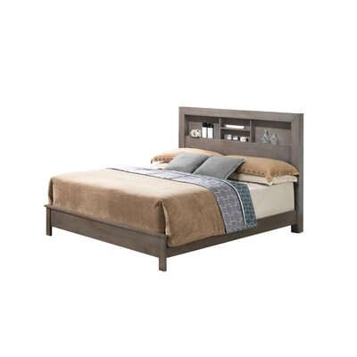 Brennen Panel Bed Finish: Gray, Size: Queen