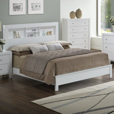Brennen Panel Bed Finish: White, Size: Queen
