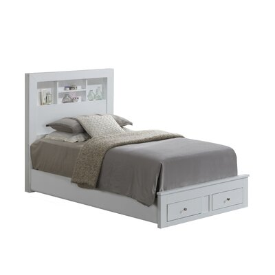 Brennen Storage Platform Bed Size: Twin, Upholstery: White