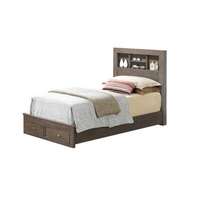 Brennen Storage Platform Bed Size: Twin, Color: Gray