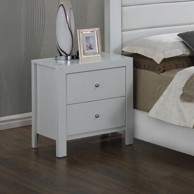 Brennen 2 Drawer Nightstand Finish: White