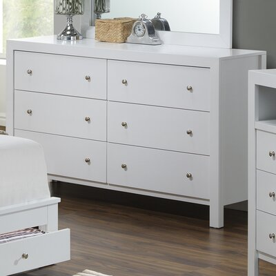 Brennen 6 Drawer Dresser Finish: White