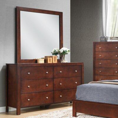 Brennen 6 Drawer Dresser with Mirror