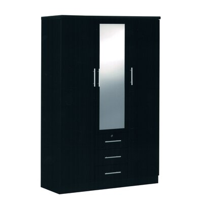 Rasmussen 3 Door Armoire Finish: Black