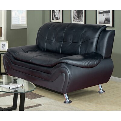 Crocker Sofa Upholstery: Black