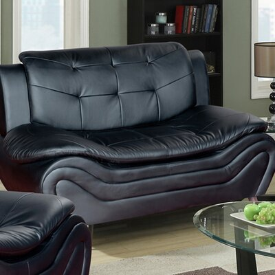 Crocker Loveseat Upholstery: Black