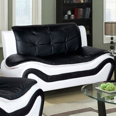 Crocker Loveseat Upholstery: Black / White