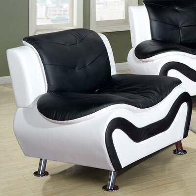 Algarve Slipper Chair Color: Black / White