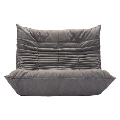 Hilltop Low Loveseat Upholstery: Gray