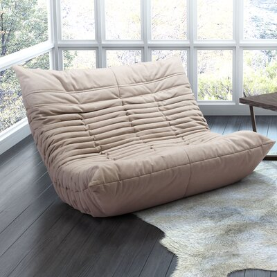 Hilltop Low Loveseat Upholstery Color: Beige