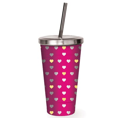 Artemis Gold Hearts Stainless Steel 16 oz. Insulated Tumbler LATT1693 34945850