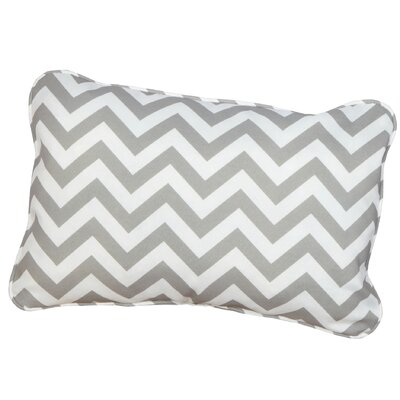 Felson Corded Indoor/Outdoor Lumbar Pillow Fabric: Chevron Grey