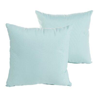 Weiss Indoor/Outdoor Throw Pillow Size: 18 H x 18 W x 6 D, Color: Aqua