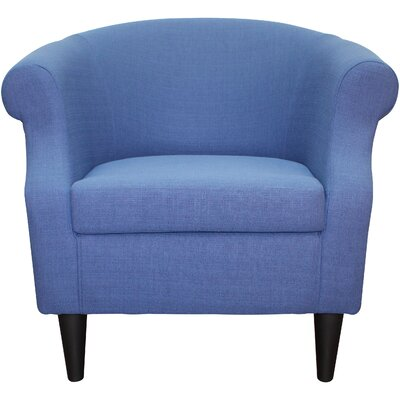 Marsdeni Barrel Chair Upholstery: Marine Blue