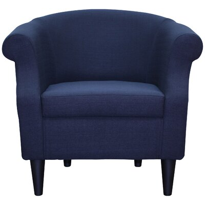 Marsdeni Barrel Chair Upholstery: Navy Blue