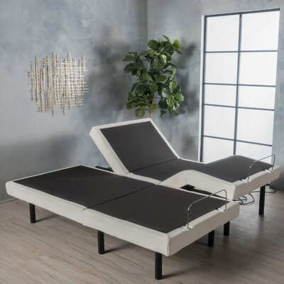 Dunellon Adjustable Base Bed Frame Size: King
