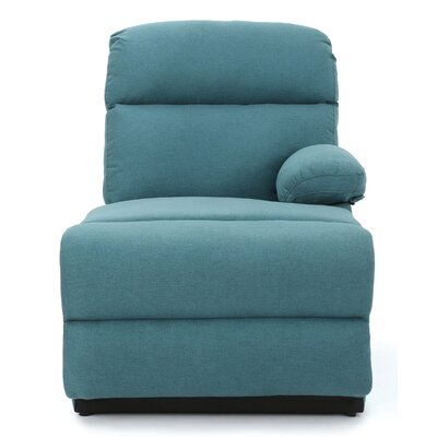 Rockford Fabric Chaise Lounge Upholstery: Dark Teal
