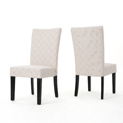 Beufort Upholstered Dining Chair Color: Tan
