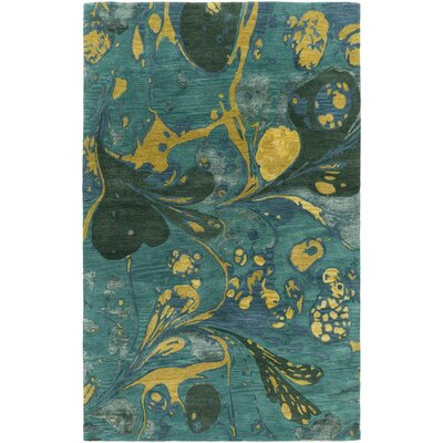 Asheville Teal Area Rug Rug Size: Rectangle 3'3