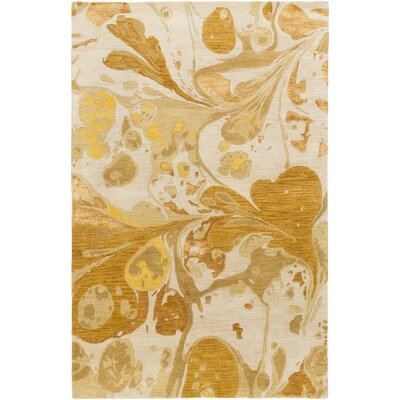 Asheville Beige/Gold Area Rug Rug Size: Rectangle 5' x 8'