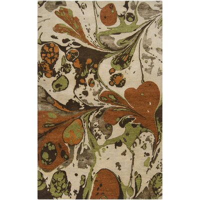 Asheville Dark Chocolate Area Rug Rug Size: 33 x 53