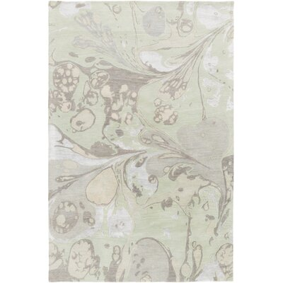 Asheville Mint/Light Gray Area Rug Rug Size: Rectangle 8 x 11