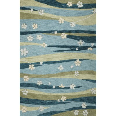 Pangkal Pinang Blue Springtime Rug Rug Size: Rectangle 33 x 53