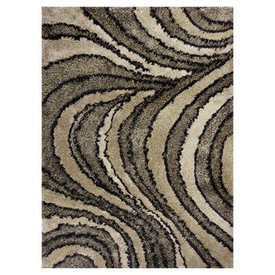 Tabiauea Eclipse Brown/Tan Area Rug Rug Size: 76 x 96