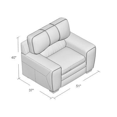Grady Simmons Armchair Upholstery: Medusa Cinnamon