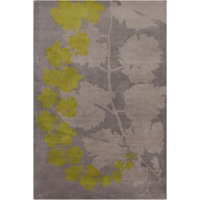 Belmont Hand Tufted Wool Taupe/Green Area Rug Rug Size: 8' x 10'