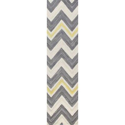 Weldon Hand-Tufted Ivory/GreyArea Rug Rug Size: Runner 26 x 8