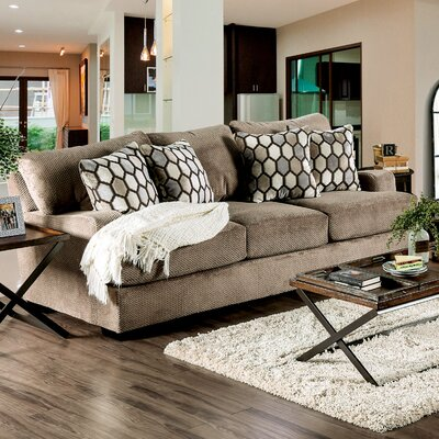 Hess Transitional Sofa Upholstery: Tan