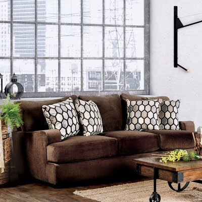 Hess Transitional Sofa Upholstery: Chocolate