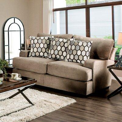 Hess Transitional Loveseat Upholstery: Tan