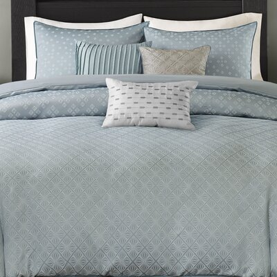 6 Piece Duvet Cover Set Size: King/California King, Color: Blue