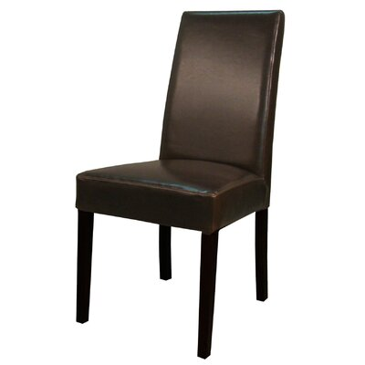 Mercado Genuine Leather Upholstered Dining Chair Color: Brown