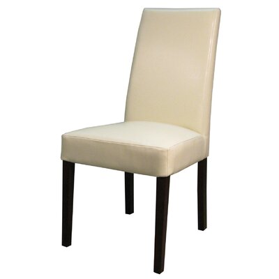 Mercado Genuine Leather Upholstered Dining Chair Color: Beige