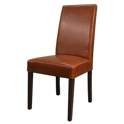Mercado Genuine Leather Upholstered Dining Chair Color: Cognac
