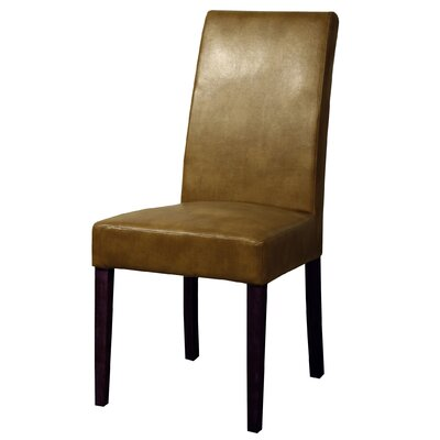 Mercado Bonded Leather Side Chair Color: Molasses