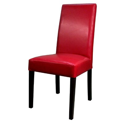 Mercado Bonded Leather Side Chair Color: Red