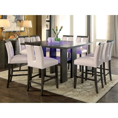 Travis Counter Height 9 Piece Dining Set