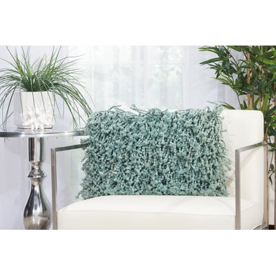 Amabella Shag Throw Pillow Size: 12 H x 18 W, Color: Ivory