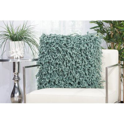 Lansvale Shag Throw Pillow Color: Celadon