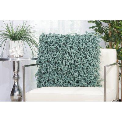 Lansvale Shag Throw Pillow Color: Celadon