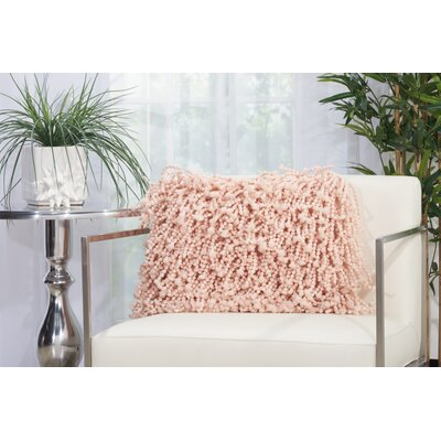 Amabella Shag Throw Pillow Size: 14 H x 20 W, Color: Rose