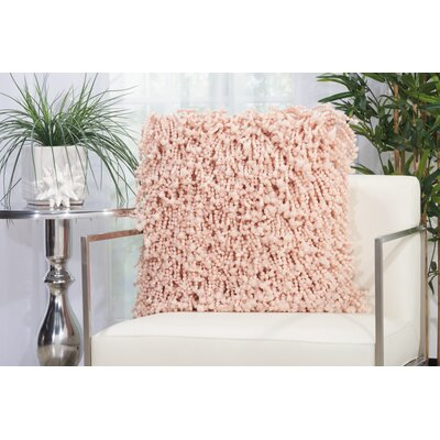 Lansvale Shag Throw Pillow Color: Rose