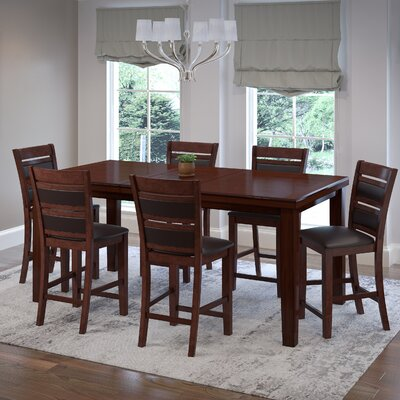 Drago 7 Piece Wood Counter Height Dining Set